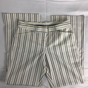 Express Editor White Pinstripe Pants Size 0
